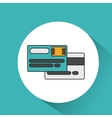 credit card money icon vector image