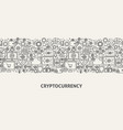cryptocurrency banner concept vector image vector image