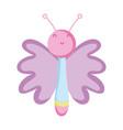 cute butterfly kawaii character vector image