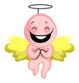 cute valentines day cupid angel on white vector image