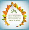 decorative autumn light background vector image vector image
