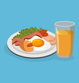 delicious food breakfast menu vector image vector image