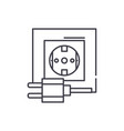 electric socket line icon concept electric socket vector image