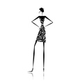 Fashion girl silhouette for your design vector image