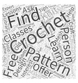 free crochet doily patterns Word Cloud Concept vector image vector image