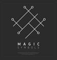 geometric white magical symbol vector image
