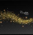 glittering golden stream sparkles vector image