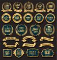 golden sale badges and labels vector image vector image