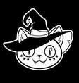 happy halloween in witch hat vector image