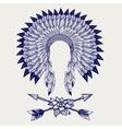 Hative american headdress sketch vector image vector image