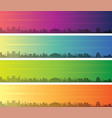 karachi multiple color gradient skyline banner vector image vector image