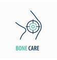 knee line icon on white background logo design vector image