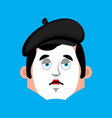 mime sad emotion avatar pantomime sorrowful emoji vector image