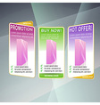 Modern web concept set of sale banners vector image vector image