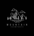 mountain logo design template with line art style vector image