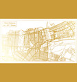 new orleans usa city map in retro style in golden vector image