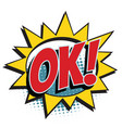 ok comic word vector image vector image