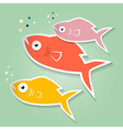 Paper Fish vector image vector image