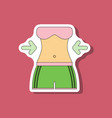 paper sticker on stylish background woman body vector image vector image