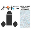 penis enhancement tabs icon with 1300 medical vector image vector image