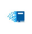 pixel book logo icon design vector image vector image