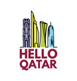 qatar city tower icon vector image vector image
