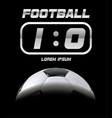 realistic soccer ball or football ball in shadow vector image vector image