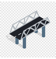 road bridge isometric icon vector image