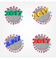 set of golf and New Year 2017 vector image vector image