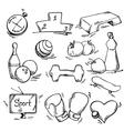 set sport icon vector image vector image