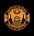 simple mine helmet logo vector image vector image