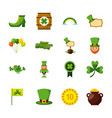 st patricks day set of icons celebration symbol vector image