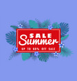 summer sale banner with paper cut flamingo and vector image vector image