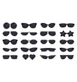 sunglasses eyewear glasses silhouette sun vector image
