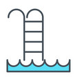 swimming pool line icon simple minimal pictogram vector image vector image