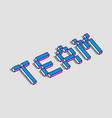 team 3d background vector image