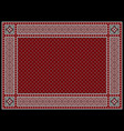 traditional ajrak pattern vector image vector image