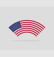 usa flag modern style united states america vector image vector image