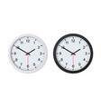 wall clock black and white mockup isolated vector image