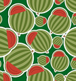 Watermelon pattern Seamless texture with ripe vector image