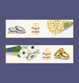 wedding rings wed shop of engagement symbol vector image vector image