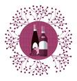 wine round symbol vector image vector image