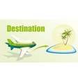 with plane and island vector image vector image