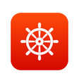 wooden ship wheel icon digital red vector image vector image