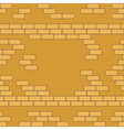 Yellow brick wall seamless background - texture vector image