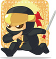 Cartoon of Ninja Holding Japanese Sword vector image