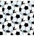 Football or soccer balls seamless pattern vector image
