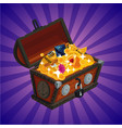 treasure chest with gold game design element vector image