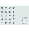 Set of Mardi Gras icons vector image