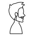 young man model shirtless avatar character vector image